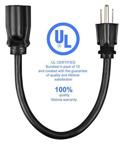 "12"" Timer Extension Cord (5 Pack) #PWR-12-XF"
