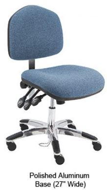 Washington Fabric ESD Office Desk Ht. Chair with Aluminum Base and ESD Casters #WAS-DF-XF