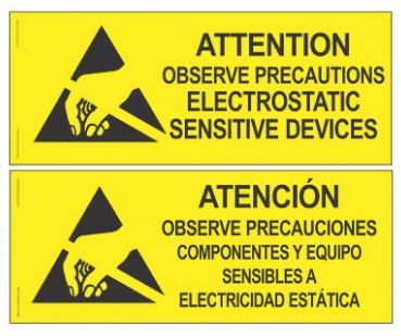 ESD Safety Sign #6750-XF